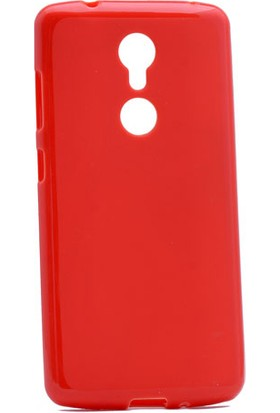 Etabibizde ZTE Axon 7 Mini Süper Parlak Silikon Arka Kapak Kırmızı + Nano Glass