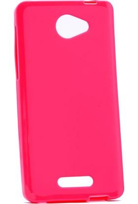 Etabibizde Alcatel Pop 4S Süper Parlak Silikon Arka Kapak Pembe