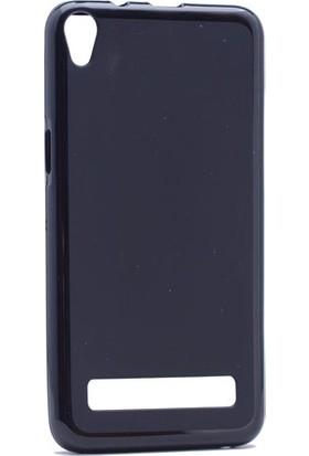 Etabibizde Vestel Venüs V3 5020 Süper Parlak Silikon Arka Kapak Siyah + Nano Glass
