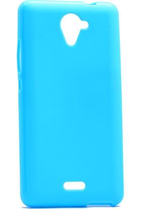 Etabibizde Casper Via E2 Süper Parlak Silikon Arka Kapak Mavi + Nano Glass