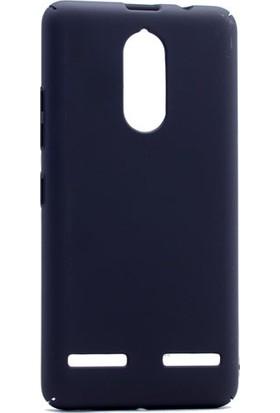 Etabibizde Lenovo K6 3A Rubber Kenarları Kavrayan Arka Kapak Siyah + Nano Glass