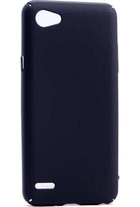 Etabibizde LG Q6 3A Rubber Kenarları Kavrayan Arka Kapak Siyah + Nano Glass