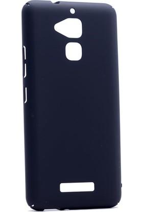 Etabibizde Asus Zenfone 3 Max 5.2 İnç ZC520TL 3A Rubber Kenarları Kavrayan Arka Kapak Siyah