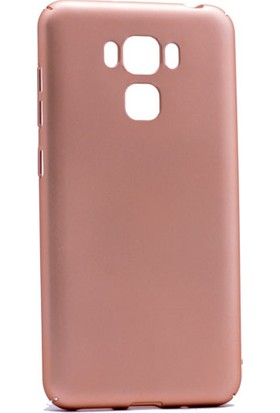 Etabibizde Asus Zenfone 3 Max ZC553KL 3A Rubber Kenarları Kavrayan Arka Kapak Gold + Nano Glass