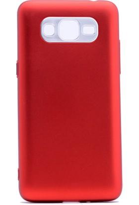 Etabibizde Samsung Galaxy Grand Prime Plus Aston Silikon Parlak Şık Arka Kapak Kırmızı + Nano Glass Cam