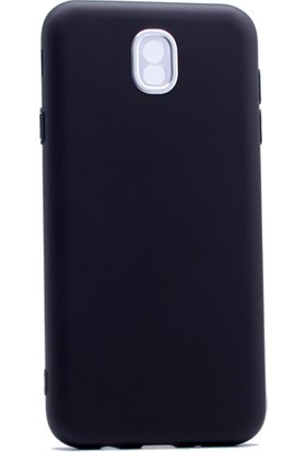 Etabibizde Samsung Galaxy J5 Pro 2017 Aston Silikon Parlak J530F Arka Kapak Siyah + Nano Glass Cam