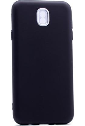 Etabibizde Samsung Galaxy J7 Pro 2017 Aston Silikon Parlak J730F Arka Kapak Siyah
