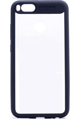 Etabibizde Xiaomi Mi A1 Buttom Kenarları Silikon Transparan Arka Kapak Siyah