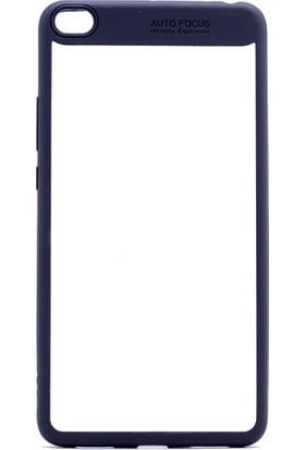 Etabibizde Xiaomi Mi Max 2 Buttom Kenarları Silikon Transparan Arka Kapak Siyah