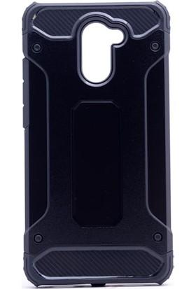 Etabibizde Huawei Y7 Prime Crash Darbe Emici Çift Katman Sert Arka Kapak Siyah