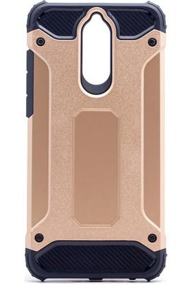Etabibizde Huawei Mate 10 Lite Crash Darbe Emici Çift Katman Sert Arka Kapak Gold