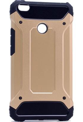 Etabibizde Xiaomi Mi Max 2 Crash Darbe Emici Çift Katman Sert Arka Kapak Gold