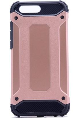 Etabibizde Asus Zenfone 4 Max ZE554KL Crash Darbe Emici Çift Katman Sert Arka Kapak Bronz + Nano Glass Cam