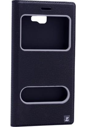 Etabibizde Samsung Galaxy J5 Prime Pencereli Gizli Mıknatıslı Dolce Sentetik Kapaklı Kılıf Siyah