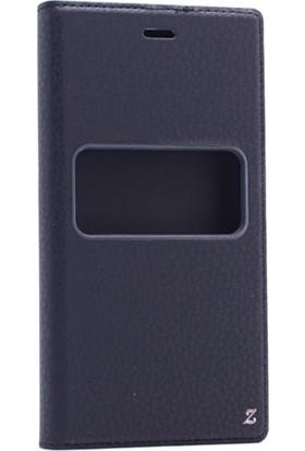Etabibizde Casper Via M2 Kıllıf Pencereli Gizli Mıknatıslı Dolce Sentetik Kapaklı Kılıf Siyah + Nano Glass Cam
