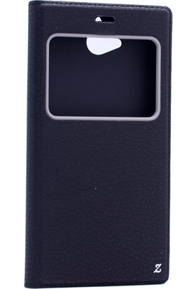 Etabibizde Casper Via A1 Plus Pencereli Gizli Mıknatıslı Dolce Sentetik Kapaklı Kılıf Siyah