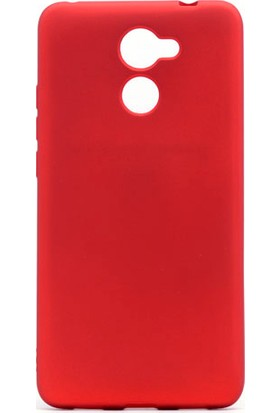 Etabibizde Huawei Y7 Prime Premier Yumuşak Doku Silikon Arka Kapak Kırmızı