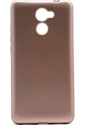 Etabibizde Huawei Y7 Prime Premier Yumuşak Doku Silikon Arka Kapak Gold
