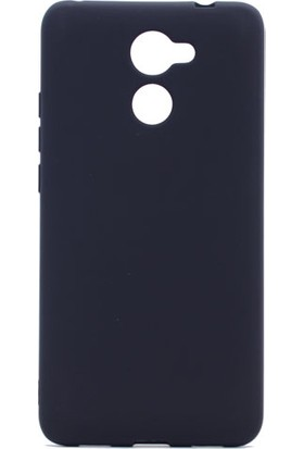 Etabibizde Huawei Y7 Prime Premier Yumuşak Doku Silikon Arka Kapak Siyah