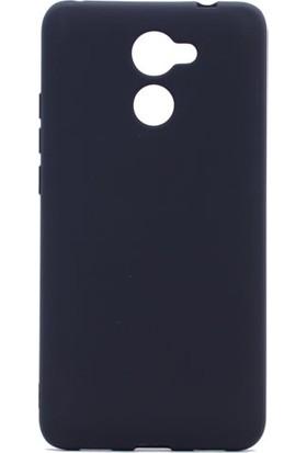 Etabibizde Huawei Y7 Prime Premier Yumuşak Doku Silikon Arka Kapak Siyah + Nano Glass Cam