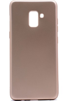 Etabibizde Samsung Galaxy A8 Plus 2018 Premier Yumuşak Doku Silikon Arka Kapak Gold