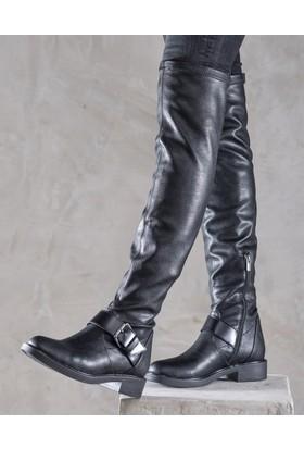 Elle Cong Kadın Çizme Siyah