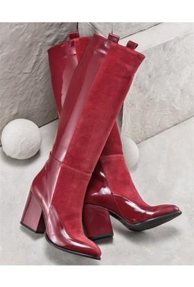 Elle Tugenda Kadın Çizme Kırmızı
