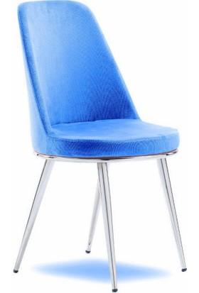 Mavievim Mutfak Sandalyesi (Kumaş) Sandalye Mavi