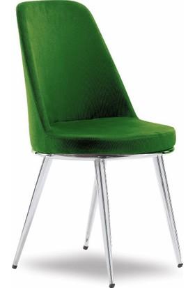 Mavievim Mutfak Sandalyesi (Kumaş) Sandalye Haki Yeşil