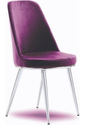 Mavievim Mutfak Sandalyesi (Kumaş) Sandalye Mürdüm