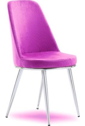 Mavievim Mutfak Sandalyesi (Kumaş) Sandalye Fuşya