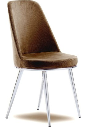 Mavievim Mutfak Sandalyesi (Kumaş) Sandalye Koyukahve