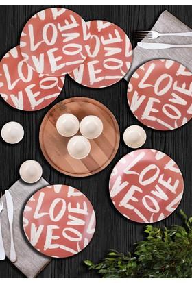 Keramika 13 Parça 6 Kişilik Kahvaltı Seti Love Time
