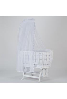 Babycom Beyaz Ahşap Sepet Beşik