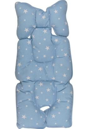 Sevi Bebe Mavi Yıldızlı Puset Ve Oto Koltuğu Minderi