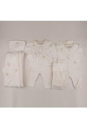 Cassiope 427262 Oyalı Krem Rengi Kız Bebek 10'Lu Hastane Çıkışı