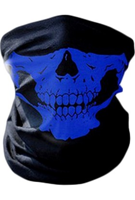 Solfera Mavi Kurukafa Çok Amaçlı Boru Bandana Maske Bd009