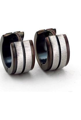 Solfera Kalın Halka 7Mm Genişlik Siyah Çelik Erkek Küpe E485