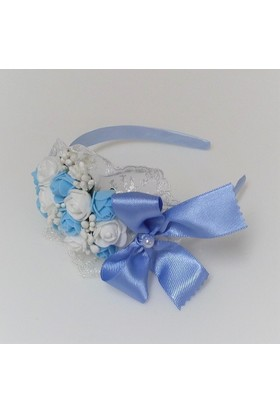 Miss Cici Çiçekli Lohusa Tacı Mavi