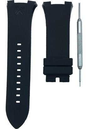 Armani Exchange AX1183 Uyumlu 31mm Siyah Silikon Saat Kordonu
