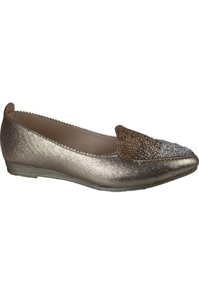 Mhd 2117 Kadın Ortopedik Taşlı Babet Ayakkabı