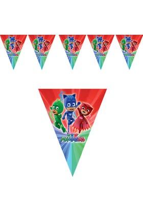 PijaMaskeliler Üçgen Bayrak Afiş