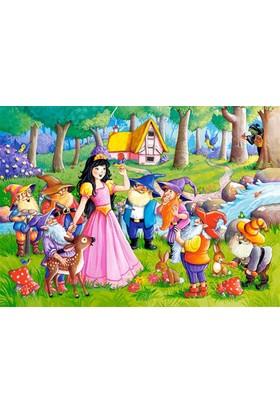 Castorland 60 Parça Snow White and the Seven Dwarfs Çocuk Puzzle