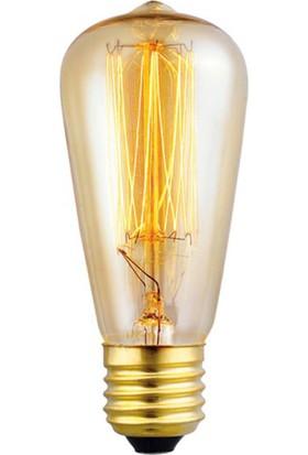 Edison Flemanlı Dekoratif Rustik Ampul 40 Watt E27