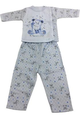 Hoppala Baby Zürafalı Yenidoğan Bebek Takımı Mavi