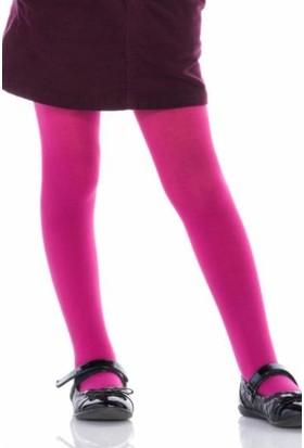Penti Ekstra Koton Kız Çocuk Külotlu Çorap Fuşya