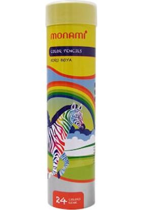Monami Kuru Boya 24 Renk Tüp Kutu Mkb410024T