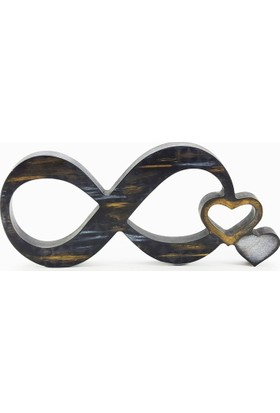 Nill Dünyası El Boyama Ahşap Sonsuz Aşk Dekoratif Obje