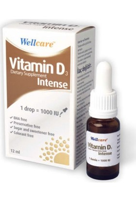 Wellcare Vitamin D3 İntense (Drop=1000 Iu) 12Ml