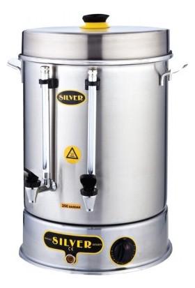 Silver Çay Semaveri 250 Bardak Çift Musluklu